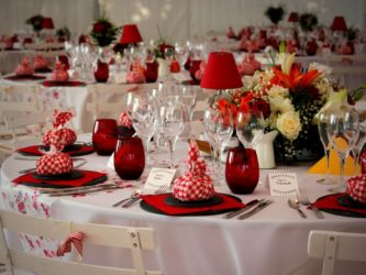 Table de mariage version Vichy